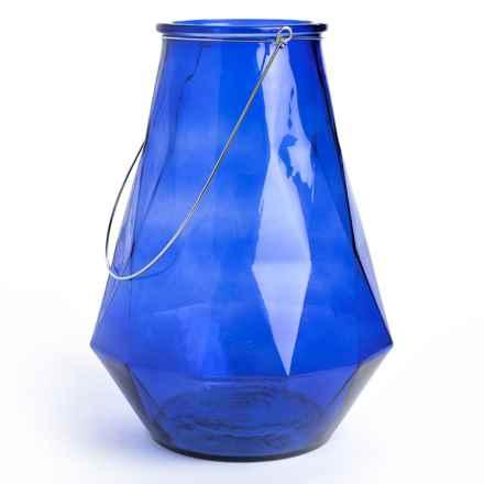 """Home Essentials Optic Lantern - 14.5"""" in Cobalt - Overstock"""
