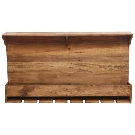 "Home Essentials Reclaimed Wood Wine Rack - 35"" in See Photo"