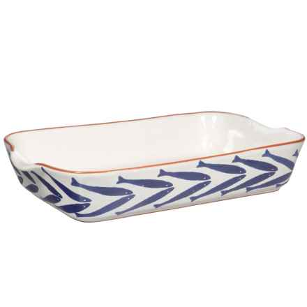 Home Essentials Rectangular Painted Baking Dish - 3.25 qt. in Blue/White - Closeouts