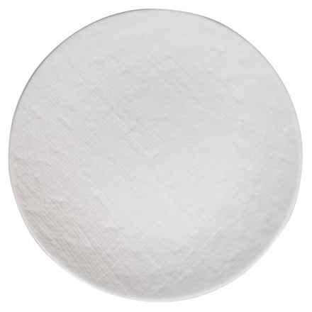 "Home Essentials Round Ceramic Dinner Plate - 10.25"" in White - Closeouts"