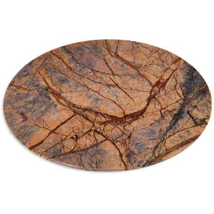 """Home Essentials Round Marble Cutting Board - 12"""" in Brown Forest - Closeouts"""