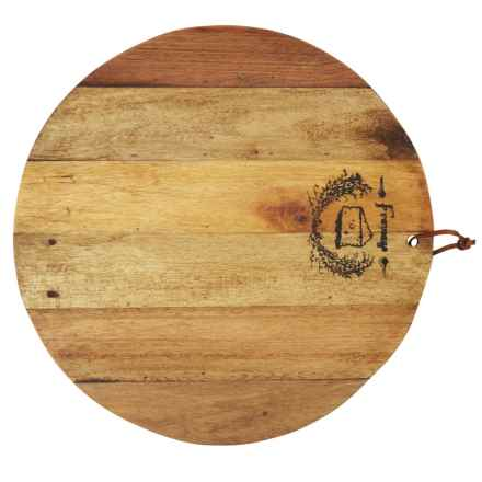 "Home Essentials Round Reclaimed Wood Cheese Board - 18"" in See Photo - Closeouts"