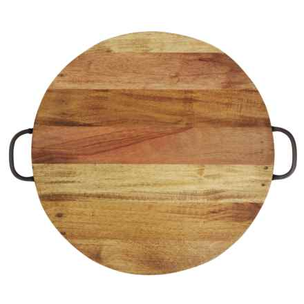 """Home Essentials Round Reclaimed Wood Tray - 20.5"""" in See Photo - Closeouts"""