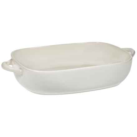 """Home Essentials Rounded Edge Rectangle Baking Dish - 11"""" in White - Closeouts"""