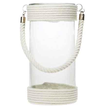 """Home Essentials St. Barts Round Lantern - 12"""" in White - Overstock"""