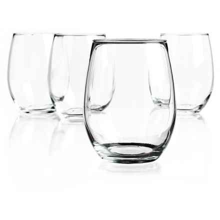 Home Essentials Stemless Wine Goblets - Set of 4 in See Photo - Closeouts