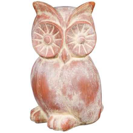 Home Essentials Terracotta Owl Garden Figure in Terracotta - Overstock