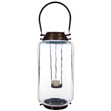 Home Essentials Tilburg Lantern - Tall in Copper - Overstock
