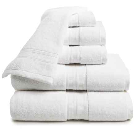 Home Fashions Chapelle Collection Zero-Twist Towel Set - 6-Piece in White - Closeouts