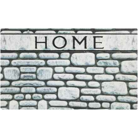 """Home Fashions Sebastian Crumb Rubber Doormat - 18x30"""" in Stone Wall Home - Overstock"""