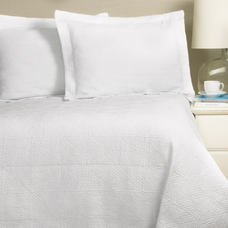 Home Fashions Vanessa Collection Stonewashed Quilt Set - Full-Queen in Ivory