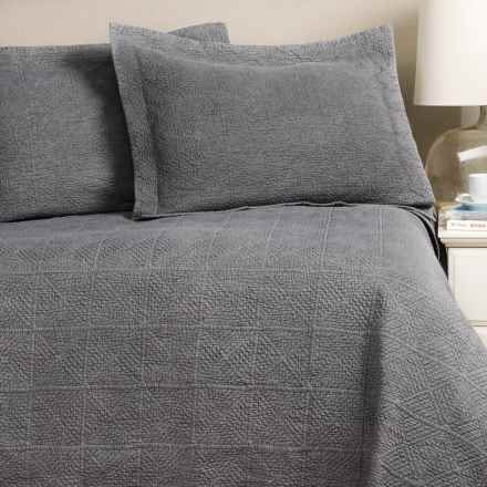 Home Fashions Vanessa Collection Stonewashed Quilt Set - Full-Queen in Medium Grey - Closeouts
