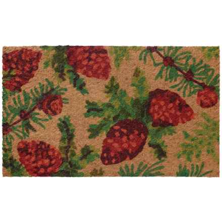 home furnishings by larry traverso lowprofile printed coir doormat 18x30u201d in pine