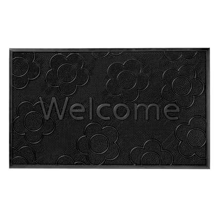 """Home Furnishings by Larry Traverso Rubber Pindot Doormat - 18x30"""" in Daisy - Closeouts"""