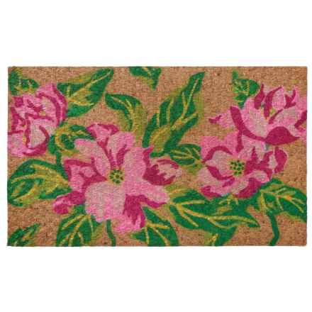 "Home Furnishings Low-Profile Printed Coir Doormat - 18x30"" in Magnolia - Closeouts"