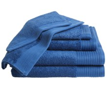 Home Source International Supima® Cotton Towel Set - 6-Piece in Sapphire - Overstock