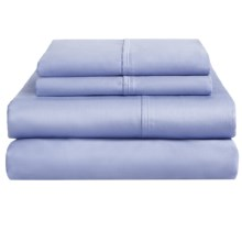 Home Source International Ultrafine Cotton Sheet Set - King, 400 TC in Blue - Overstock