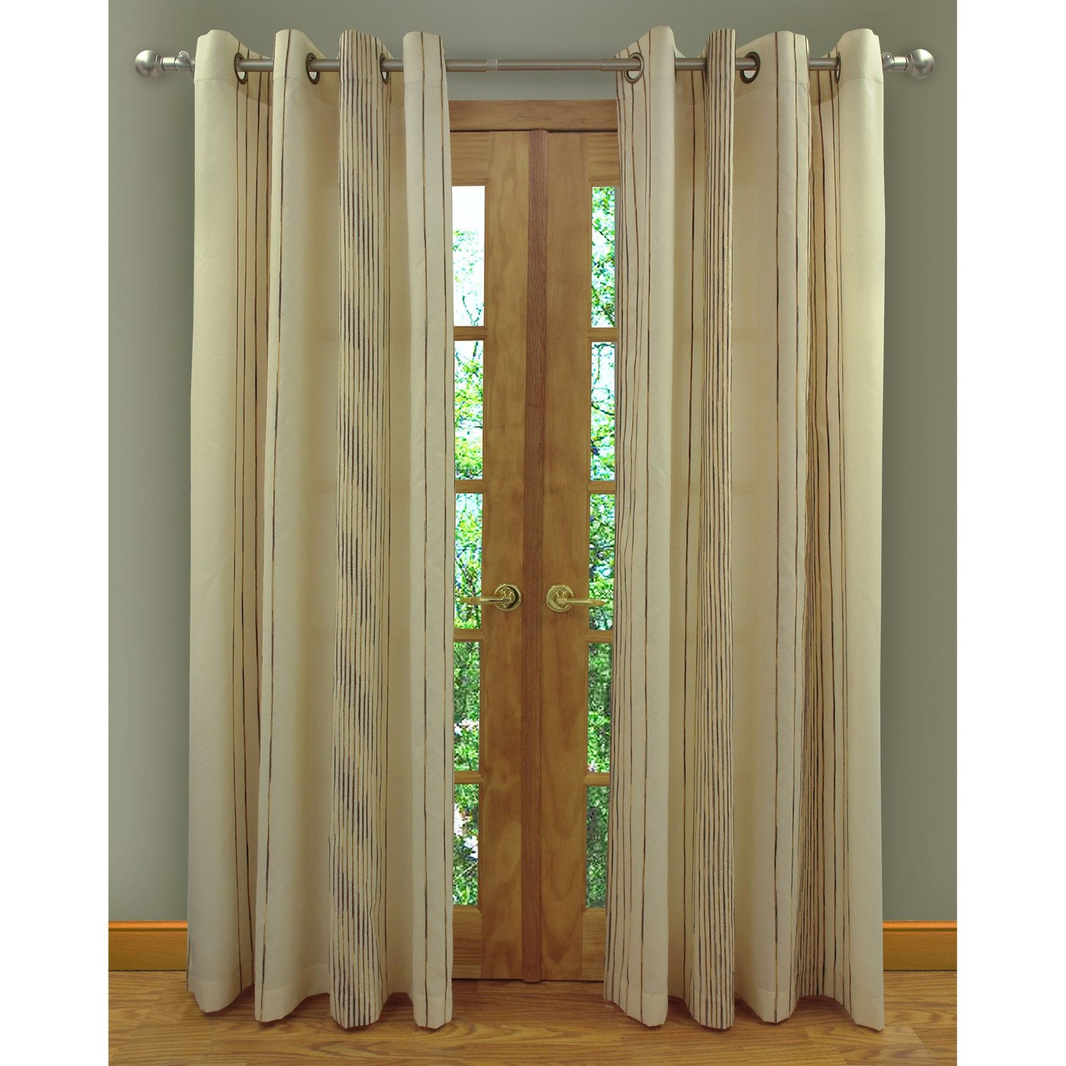 home studio ambiance taffeta curtains 104x84 grommet top chenille
