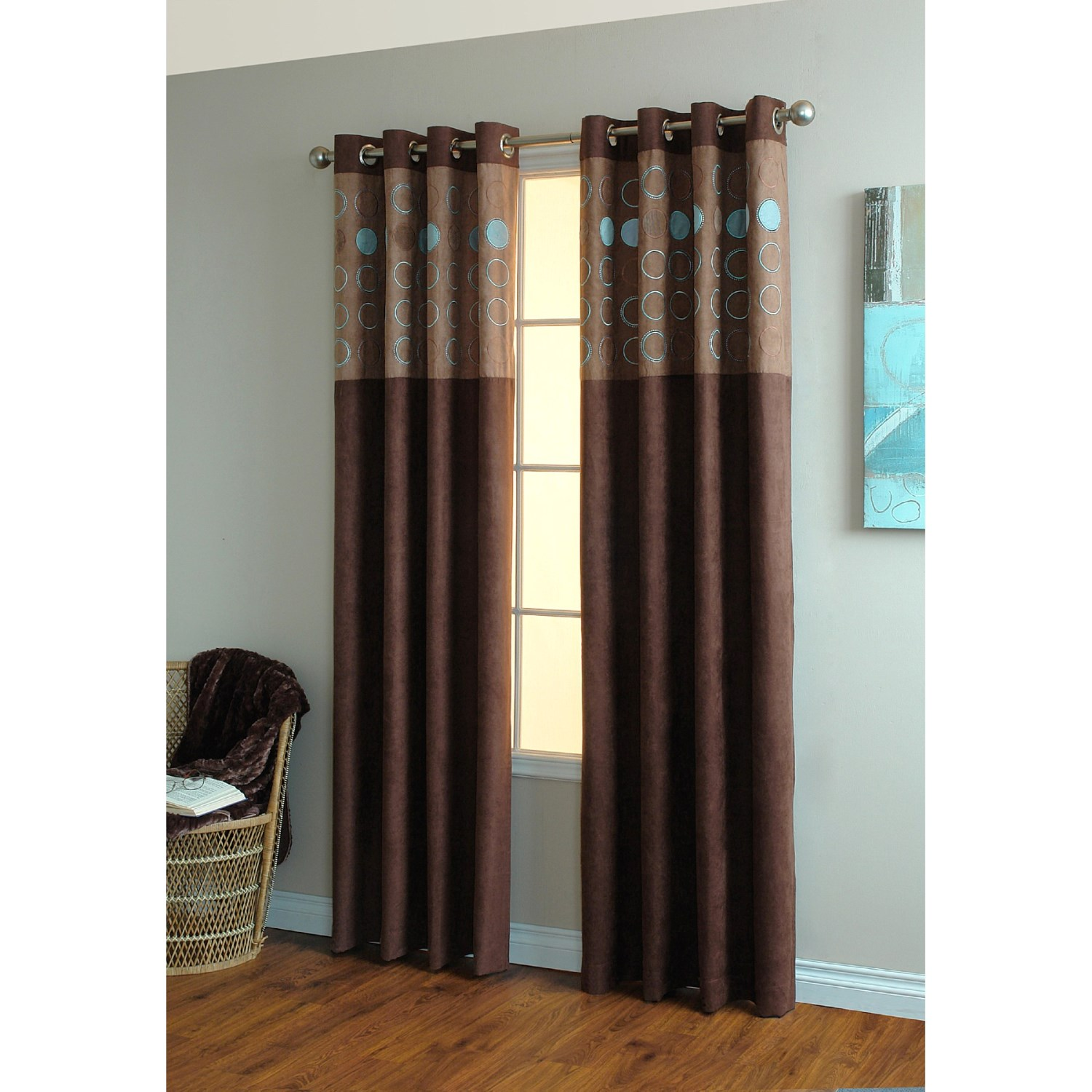 home studio circa curtains 84 grommet top faux suede