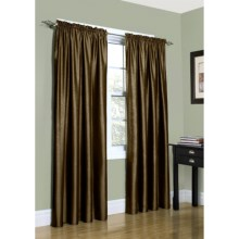 "Home Studio Metallica Faux-Silk Curtains - 84"", Rod Pocket in Bronze - Overstock"