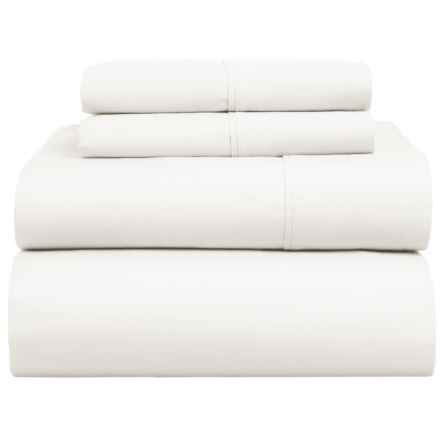 Homebound Morris Sheet Set - King, Organic Cotton in White - Closeouts