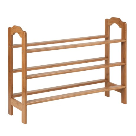 Honey Can Do 3-Tier Bamboo Shoe Rack in Nautral
