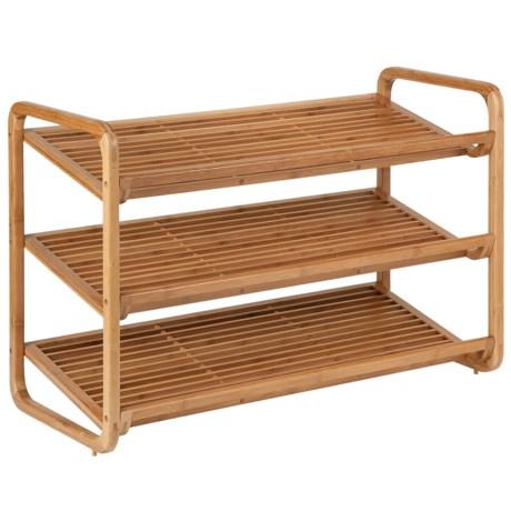Image of Honey Can Do 3-Tier Bamboo Shoe Shelf