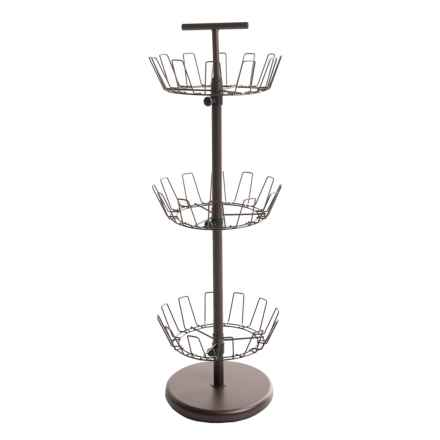 Honey Can Do 3-Tier Revolving Shoe Tree in Bronze - Closeouts