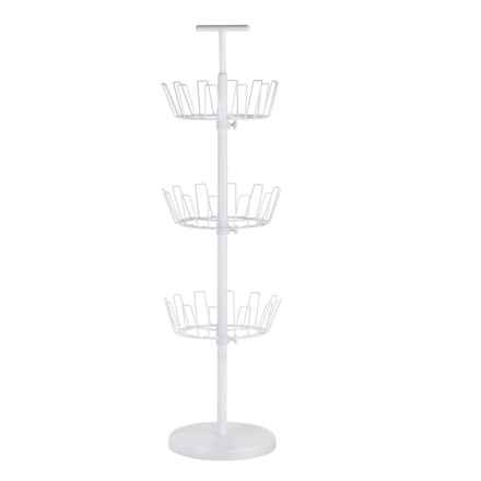 Honey Can Do 3-Tier Revolving Shoe Tree in White - Closeouts