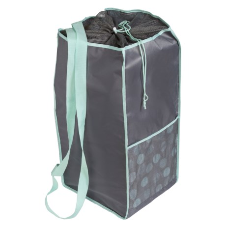 Honey Can Do Backpack Laundry Hamper in Mint