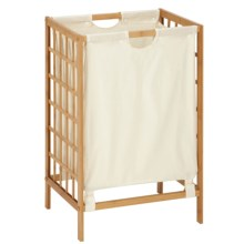 Honey Can Do Bamboo Lattice Hamper in See Photo - Closeouts