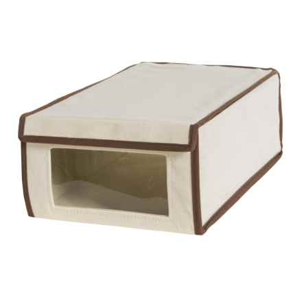 Honey Can Do Canvas Shoe Storage Box in Natural - Closeouts