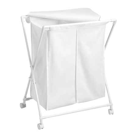 Honey Can Do Double Folding Hamper in White - Closeouts