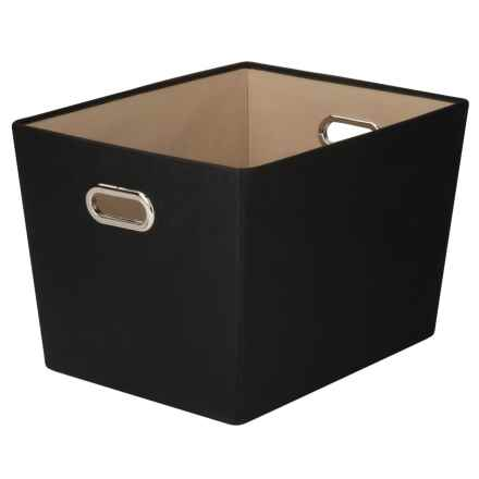 Honey Can Do Fabric Storage Bin - Large in Black - Closeouts