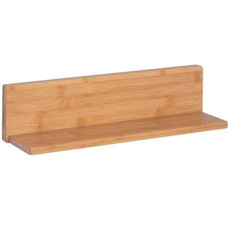 Honey Can Do L-Shaped Ledge Shelf in Natural