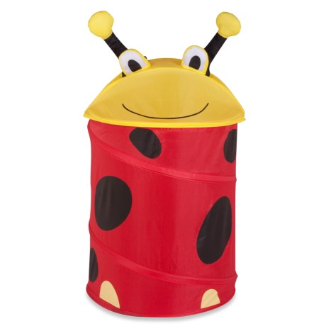 Honey Can Do Ladybug Pop-Up Hamper - Medium (For Kids) in Red/Black