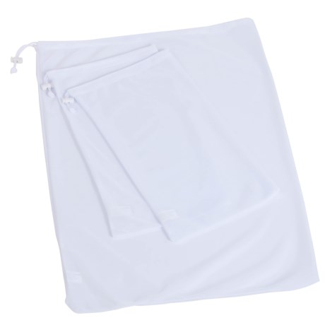 Honey Can Do Mesh Wash Bag Set - 3-Piece in White