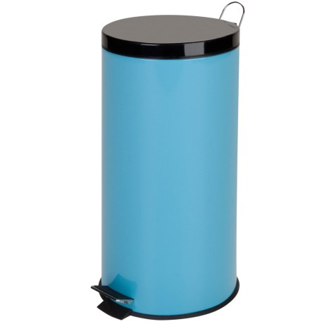 Honey Can Do Metal Step Trash Can - 30L, Stainless Steel in Blue