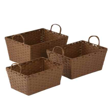 Honey Can Do Nesting Baskets - Set of 3 in Brown - Closeouts