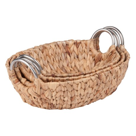 Honey Can Do Oval Nesting Baskets - Set of 3 in Natural