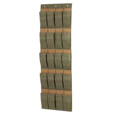 Honey Can Do Over-the-Door Organizer - 20 Pocket in Bamboo/Moss - Closeouts