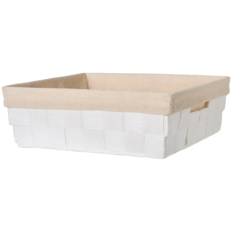 "Honey Can Do Paper Rope Tray - 15x13x5"" in White"