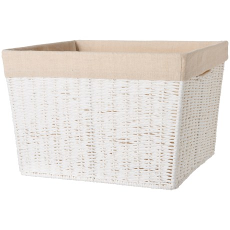 Honey Can Do Parchment Cord Basket with Liner - Large in White