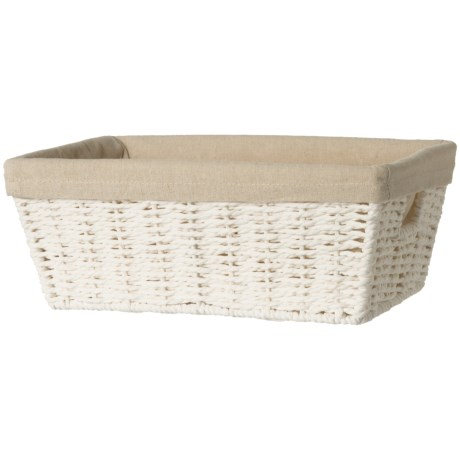 Honey Can Do Parchment Cord Basket with Liner - Small in White