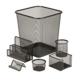 Honey Can Do Steel Mesh Desk Organizing Set - 6-Piece