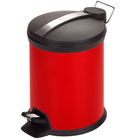 Honey Can Do Step Trash Can - 3L in Red