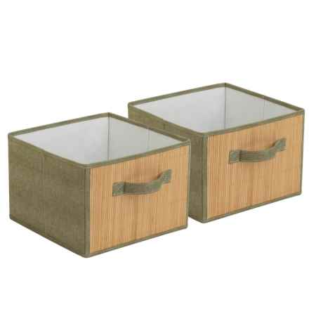 Honey Can Do Storage Drawers - 2-Pack in Bamboo/Moss - Closeouts