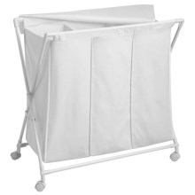 Honey Can Do Triple Folding Hamper in See Photo - Closeouts