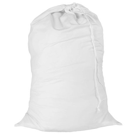 Honey Can Do White Jersey Cotton Laundry Bag in White