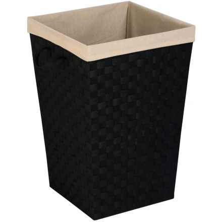 """Honey Can Do Woven Fabric Hamper - 17x26"""", Lined in Black - Closeouts"""
